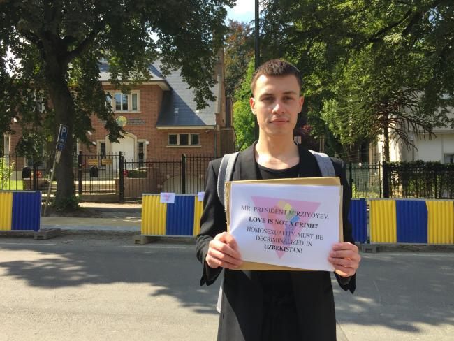 Акция у посольства Узбекистана в Бельгии