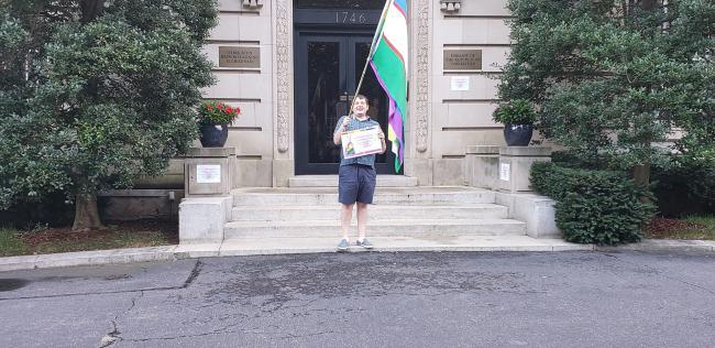 Акция у посольства Узбекистана в Вашингтоне, США