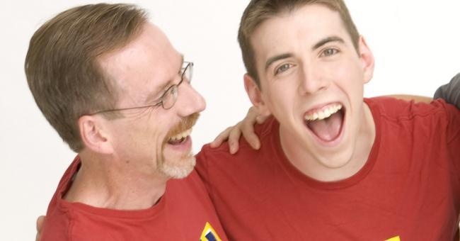 Ed Gaffney with his son, Jason T. Gaffney