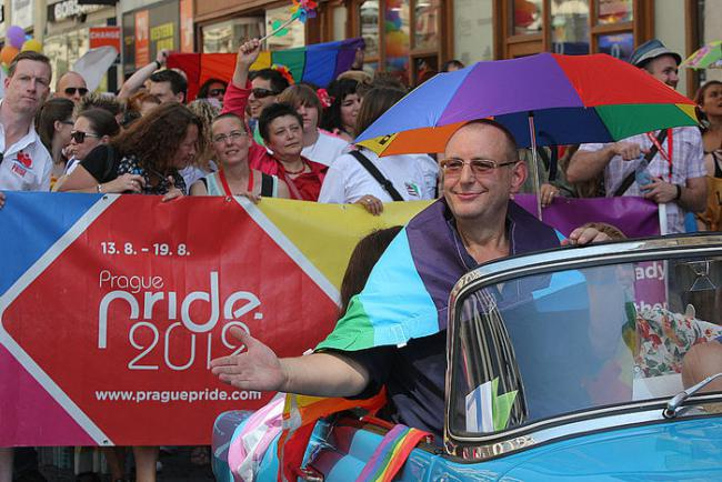 Jiří Hromada na Prague Pride 2012
